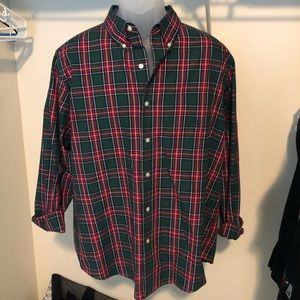 Men's chaps collared button down shirt